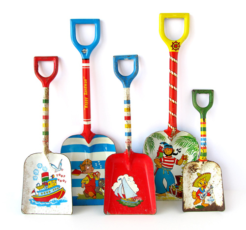Collection of Vintage Tin Shovels by Suzanna Scott
